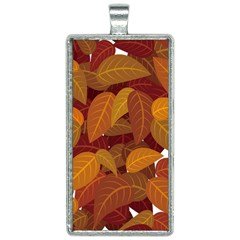 Leaves Pattern Rectangle Necklace