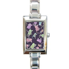 Animals Mouse Cartoon Pet Rectangle Italian Charm Watch