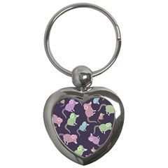 Animals Mouse Cartoon Pet Key Chains (heart)