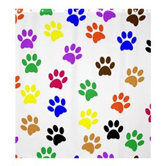 Pawprints Paw Prints Paw Animal Shower Curtain 66  X 72  (large)
