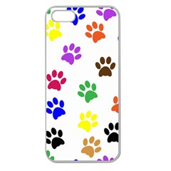 Pawprints Paw Prints Paw Animal Apple Seamless Iphone 5 Case (clear)