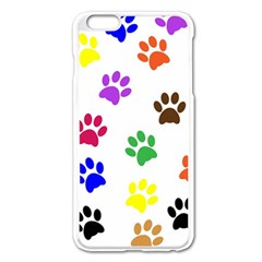 Pawprints Paw Prints Paw Animal Apple Iphone 6 Plus/6s Plus Enamel White Case