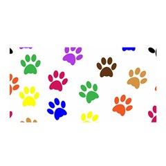 Pawprints Paw Prints Paw Animal Satin Wrap by Wegoenart