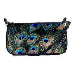 Peacock Feathers Bird Colorful Shoulder Clutch Bag