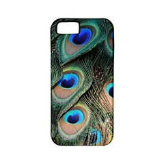 Peacock Feathers Bird Colorful Apple Iphone 5 Classic Hardshell Case (pc+silicone)