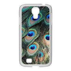 Peacock Feathers Bird Colorful Samsung Galaxy S4 I9500/ I9505 Case (white)