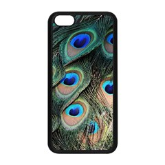Peacock Feathers Bird Colorful Apple Iphone 5c Seamless Case (black)