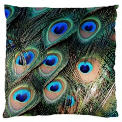Peacock Feathers Bird Colorful Standard Flano Cushion Case (two Sides)