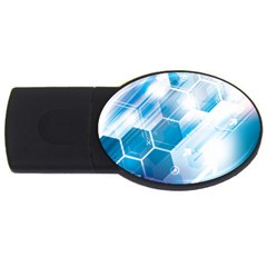 Hexagon Euclidean Vector Gradient Del  Blue Color Science And Technology Usb Flash Drive Oval (2 Gb) by Wegoenart