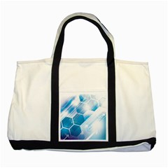 Hexagon Euclidean Vector Gradient Del  Blue Color Science And Technology Two Tone Tote Bag