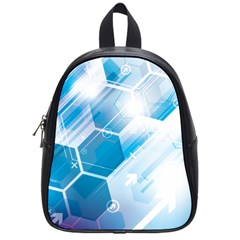 Hexagon Euclidean Vector Gradient Del  Blue Color Science And Technology School Bag (small)
