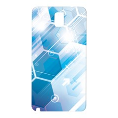 Hexagon Euclidean Vector Gradient Del  Blue Color Science And Technology Samsung Galaxy Note 3 N9005 Hardshell Back Case