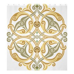 Arabesque Ornament Islamic Art Stencil Drawing Shower Curtain 66  X 72  (large)