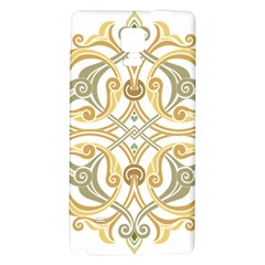 Arabesque Ornament Islamic Art Stencil Drawing Samsung Note 4 Hardshell Back Case