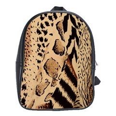 Animal Pattern Design Print Texture School Bag (large)
