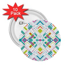 Graphic Design Geometry Shape Pattern Geometric 2 25  Buttons (10 Pack)