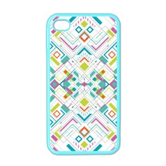 Graphic Design Geometry Shape Pattern Geometric Apple Iphone 4 Case (color)