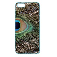 Peacock Tail Feathers Apple Seamless Iphone 5 Case (color) by Wegoenart