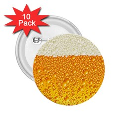Bubble Beer 2 25  Buttons (10 Pack)