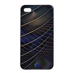 Background Fractal Peacock Pipe Apple Iphone 4/4s Seamless Case (black)