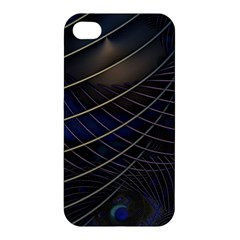 Background Fractal Peacock Pipe Apple Iphone 4/4s Hardshell Case