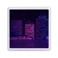 Christmas Skyline Skyscraper Memory Card Reader (square)