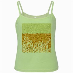 Beer Head Foam Cool Green Spaghetti Tank by Wegoenart