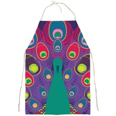 Peacock Bird Animal Feathers Full Print Aprons by Wegoenart