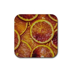 Blood Orange Fruit Citrus Fruits Rubber Coaster (square)  by Wegoenart