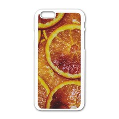 Blood Orange Fruit Citrus Fruits Apple Iphone 6/6s White Enamel Case by Wegoenart