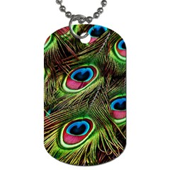 Peacock Feathers Feather Color Dog Tag (one Side)