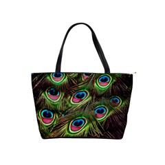 Peacock Feathers Feather Color Classic Shoulder Handbag