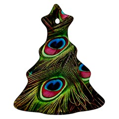 Peacock Feathers Feather Color Christmas Tree Ornament (two Sides)