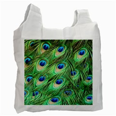 Peacock Feathers Peafowl Recycle Bag (one Side) by Wegoenart