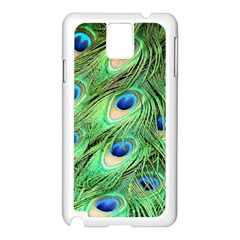 Peacock Feathers Peafowl Samsung Galaxy Note 3 N9005 Case (white) by Wegoenart
