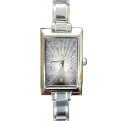 Peacock White Bird Nature Rectangle Italian Charm Watch