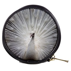Peacock White Bird Nature Mini Makeup Bag