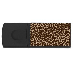Giraffe Animal Print Skin Fur Rectangular Usb Flash Drive