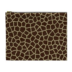 Giraffe Animal Print Skin Fur Cosmetic Bag (xl)