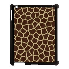 Giraffe Animal Print Skin Fur Apple Ipad 3/4 Case (black)