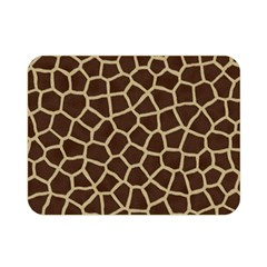 Giraffe Animal Print Skin Fur Double Sided Flano Blanket (mini)