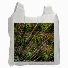 Peacock Feathers Color Plumag Recycle Bag (one Side) by Wegoenart