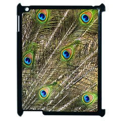 Peacock Feathers Color Plumag Apple Ipad 2 Case (black) by Wegoenart