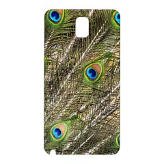 Peacock Feathers Color Plumag Samsung Galaxy Note 3 N9005 Hardshell Back Case