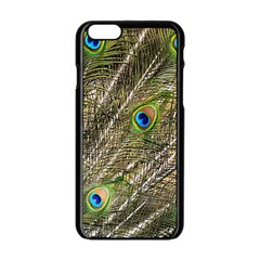 Peacock Feathers Color Plumag Apple Iphone 6/6s Black Enamel Case