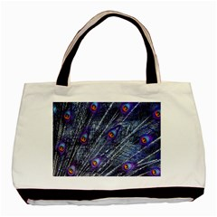 Peacock Feathers Color Plumage Basic Tote Bag (two Sides)