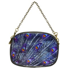 Peacock Feathers Color Plumage Chain Purse (one Side)