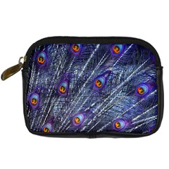 Peacock Feathers Color Plumage Digital Camera Leather Case