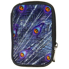 Peacock Feathers Color Plumage Compact Camera Leather Case