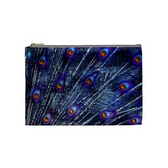 Peacock Feathers Color Plumage Cosmetic Bag (medium)